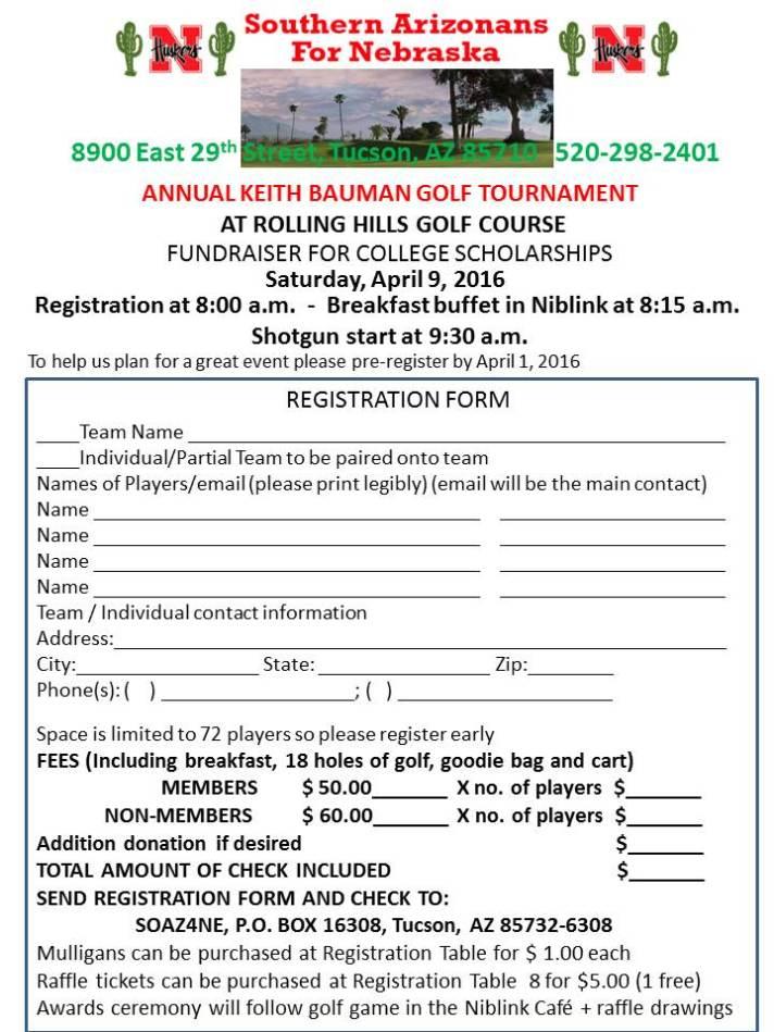 Golf tournament JPEG form 2016